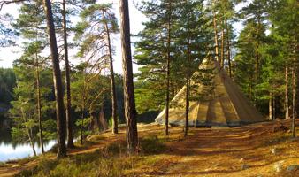 Lägerskola med vildmarksguide